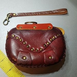 Bags - Leather Structure Pig Coin Purse